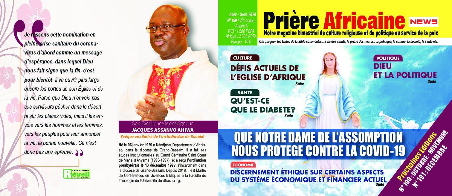COUVERTURE DE PRIÈRE AFRICAINE D'AOÛT/ SEPTEMBRE 2020