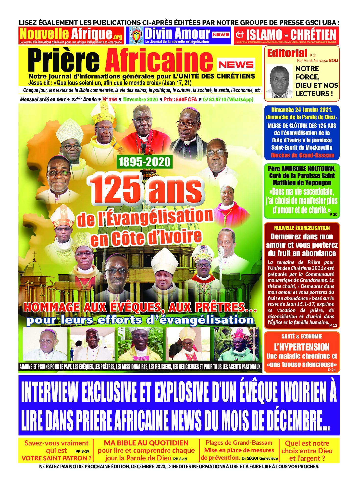 LISEZ ET FAITES LIRE PRIÈRE AFRICAINE DE DÉCEMBRE 2020 OFFERTE GRACIEUSEMENT PAR NOS PARTENAIRES  !!! (Lire la pièce jointe)
